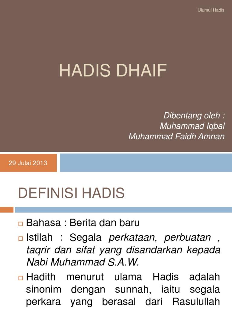 Hadith Dhaif
