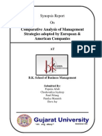 Report on Analysis on Management Strategies