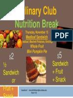 nutrition break 11-15-12