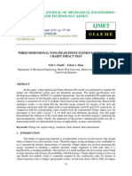 Three Dimensional Nonlinear Finite Element Modeling of Charpy Impact Test