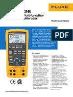 FLUKe 726 Model Manual for Users