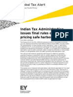 TP Indian Tax Admin Issues Final TP Safe Harbor Rules