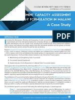 Malawi Cap Assessment