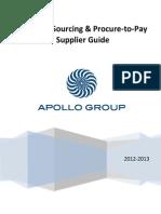 Apollo Group Supplier Guide