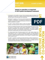 Effective development co-operation - an important enabler in a post-2015 global development framework