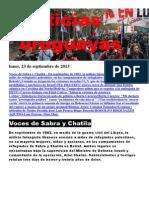 Noticias Uruguayas Lunes 23 de Setiembre Del 2013