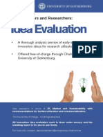 Idea Evaluation Information Sheet