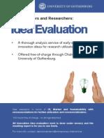 Idea Evaluation Information Sheet