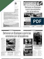 Versión impresa del periódico El mexiquense  23 septiembre 2013