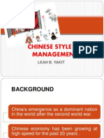 Chinese Style of Management