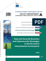 Data and Security Breaches and Cyber-Security Strategies in the EU