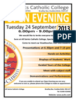 Open Evening Advert 2013