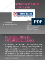 Cash Credit System of HDFC Bank
