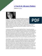 Argelia, FE de vida para Maduro.docx