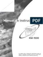 Manual Del Usuario KM-1500