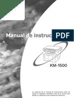 Manual Del Usuario KM-1500