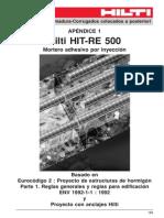 HILTI Conexiones Aposteriori RE500