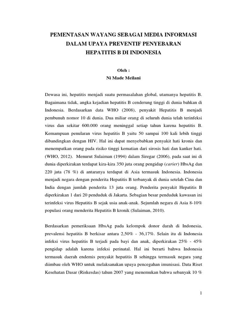 contoh essay ilmiah kedokteran