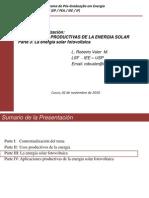 Parte III La Energia Solar Fotovoltaica