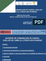 Bariere de comunicare în cadrul orelor de română-Alina Scarlat