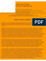 Rune Yoga Course