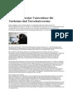 Deutschlandweiter Unterstützer für Tierheime und Tierschutzvereine