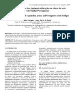 Classificação das juntas de dilatação em obras de arte rodoviárias Portuguesas