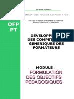 Formulation Des Objectifs Peda d Participant