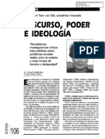 12. Diálogo. Discurso, poder e ideología. Entrevista a Van Dijk. Sebastián Mantilla