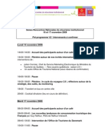 5èmes Rencontres etourisme 2009-Pré-programmeBlog