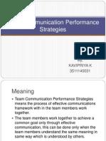 Team Communication Performance Strategies