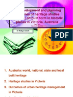 The Development and planning outcomes of heritage studies (surveys) on built form in historic places in Victoria, Australia