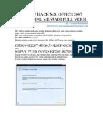 Mengubah Microsoft Office 2007 Trial Version Menjadi Full Version