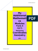Coordinate Geometry Ver 2012
