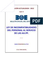 Ley Incompatibilidades 2012