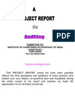 58324715 Project on Auditing