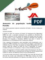 Aumento de população turbina FPM na Paraíba