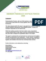 whitsun feedback summary survey doc - NEWSLETTER
