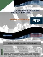 Presentación de la Reforma Político-Electoral del PAN