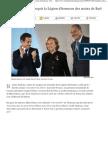Bernadette Chirac reçoit la légion d'honneur des mains de Sarkozy