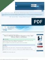 Edit Context Menu - Change Default Program in Windows