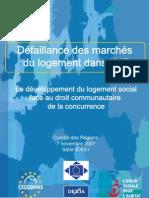 Conference sur la défaillance des marchés du logement de l'UE