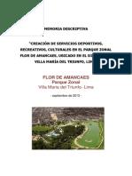 Memoria Descriptiva Parque Flor de Amancaes