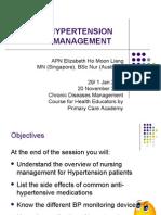 Hypertension Self Management