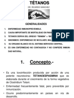 Tetanos - Dr. Sanchez Hoyos