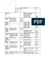 IB Examination Timetable 2014
