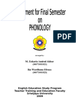 Assgnment for Final Phonology)