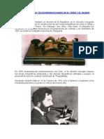 LA HISTORIA DE LAS TELECOMUNICACIONES EN EL PERÚ Y EL MUNDO