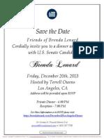 Dinner and Reception for Brenda Lenard