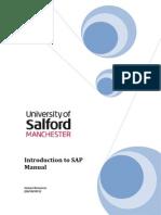 Introduction to SAP Manual